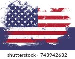 flag of united states of... | Shutterstock . vector #743942632