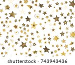 doodle stars seamless pattern.... | Shutterstock .eps vector #743943436