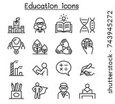 education   learning icon set... | Shutterstock .eps vector #743945272
