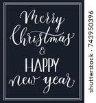 merry christmas and happy new... | Shutterstock .eps vector #743950396