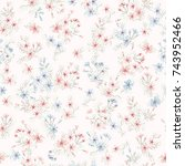 seamless pattern in small... | Shutterstock . vector #743952466
