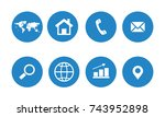 web icon set | Shutterstock .eps vector #743952898