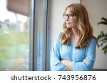 shot of a thinking middle aged... | Shutterstock . vector #743956876