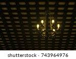light bulbs and classic... | Shutterstock . vector #743964976