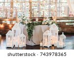 Decorated Area With White...