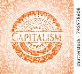 capitalism abstract orange... | Shutterstock .eps vector #743978608