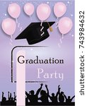 graduation party | Shutterstock .eps vector #743984632