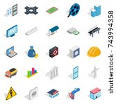 banking technology icons set.... | Shutterstock .eps vector #743994358