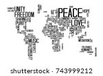 peace concept  text or... | Shutterstock .eps vector #743999212