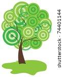 vector abstract tree   Shutterstock .eps vector #74401144