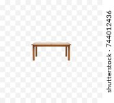 realistic furniture element.... | Shutterstock .eps vector #744012436