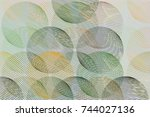 background abstract geometric... | Shutterstock .eps vector #744027136