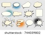 set comic bubble isolate | Shutterstock . vector #744039802