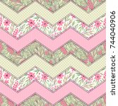 seamless pattern with... | Shutterstock .eps vector #744040906