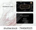 interior business name card... | Shutterstock .eps vector #744069325