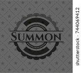 summon realistic black emblem | Shutterstock .eps vector #744069412