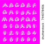 alphabet in modern style with...   Shutterstock . vector #744078406