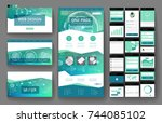 website template  one page... | Shutterstock .eps vector #744085102