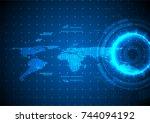 circle technology and glowing...