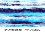watercolor stripes in grunge... | Shutterstock .eps vector #744096502