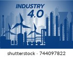 industry 4.0 concept  smart... | Shutterstock .eps vector #744097822