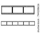 black photographic film on... | Shutterstock .eps vector #744108616
