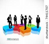 business people team standing... | Shutterstock .eps vector #74411707