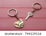 happy valentine's day  i love... | Shutterstock . vector #744119116