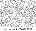 the cracks texture white and... | Shutterstock .eps vector #744122902