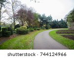 a park at autumn time | Shutterstock . vector #744124966