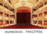 belgrade  serbia   october 18 ...   Shutterstock . vector #744127936