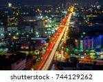 bokeh cityscape | Shutterstock . vector #744129262