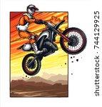 vector illustration of man...   Shutterstock .eps vector #744129925