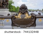 paris  france may 02  2017 ... | Shutterstock . vector #744132448