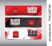 black friday sale design banner ...   Shutterstock .eps vector #744138748