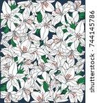 vector background of white...   Shutterstock .eps vector #744145786