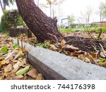 autumn leaves on the street | Shutterstock . vector #744176398