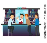 beer bar   restaurant.... | Shutterstock .eps vector #744188548