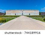 caserta  italy. october 29 ... | Shutterstock . vector #744189916