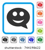 smile smiley message icon. flat ...