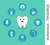 dental cartoon vector with...   Shutterstock .eps vector #744203818