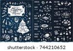 christmas menu template.... | Shutterstock .eps vector #744210652