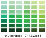 green color palette vector... | Shutterstock .eps vector #744213865