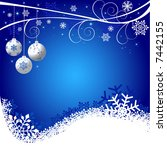abstract christmas background... | Shutterstock .eps vector #7442155