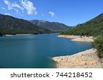 mountain lake | Shutterstock . vector #744218452