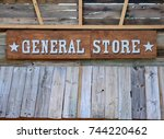 old fashioned general store... | Shutterstock . vector #744220462