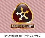 gold emblem or badge with... | Shutterstock .eps vector #744237952