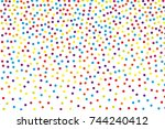background with irregular ... | Shutterstock .eps vector #744240412
