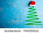 christmas background. christmas ... | Shutterstock . vector #744250312