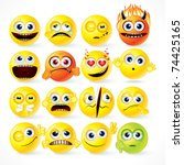 Yellow Smileys Icon Set  ...
